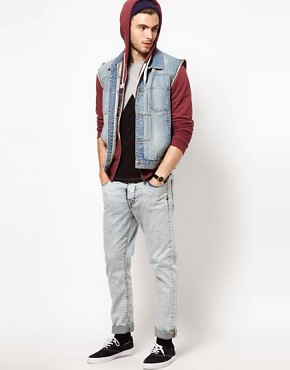 Image 4 of ASOS Sleeveless Denim Jacket