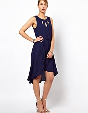 Selected Venca Sleeveless Dress with Cut Out Detail