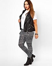 New Look Inspire - Leggings con stampa azteca