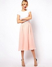 Mango Full Midi Skirt