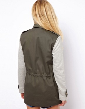 Image 2 ofASOS Contrast Jersey Parka