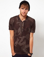 Diesel Polo Shirt K-Canoa Camo Knit