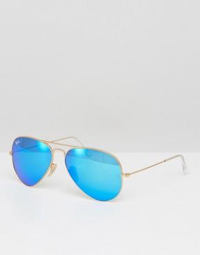 Солнцезащитные очки-авиаторы с зеркальными стеклами Ray-Ban 0RB3025