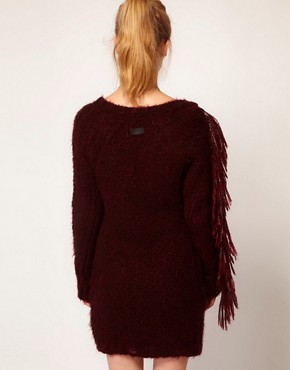 Image 2 ofDiesel Fringe Detail Jumper Dress