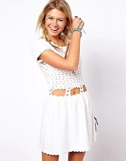 ASOS Crochet Village Skater Dress