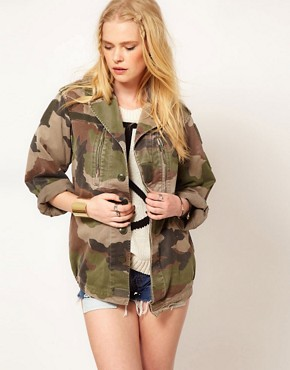 Image 1 ofHearts &amp; Bows Vintage Army Camo Jacket