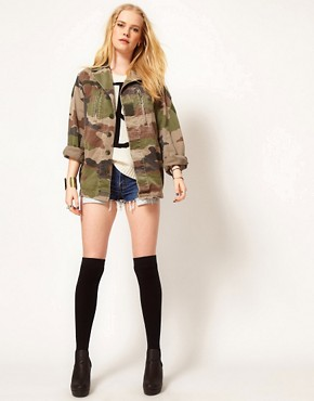 Image 4 ofHearts &amp; Bows Vintage Army Camo Jacket