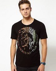 Camiseta con estampado de estilo indio T6-Skin de Diesel