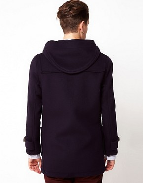 Image 2 ofGloverall Made In London Wool Checkback Duffle Coat