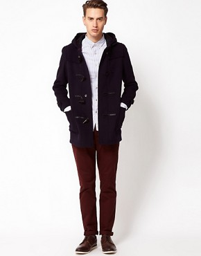 Image 4 ofGloverall Made In London Wool Checkback Duffle Coat
