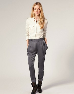 Image 1 ofIRO Trousers with Drape Pockets