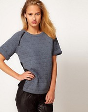 ASOS REVIVE Top with Diamond Quilting