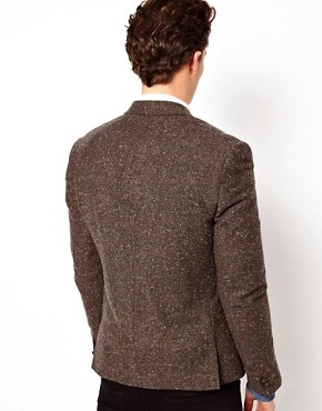 Image 2 ofASOS Slim Fit Tweed Blazer with Shooting Patch