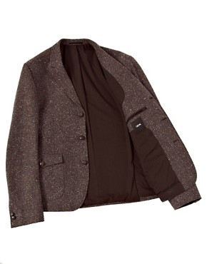 Image 3 ofASOS Slim Fit Tweed Blazer with Shooting Patch