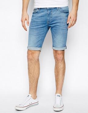 River Island Denim Shorts In Light Wash