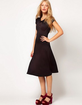 Image 1 ofASOS Midi Dress In Jersey With Peterpan Collar