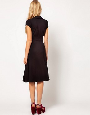 Image 2 ofASOS Midi Dress In Jersey With Peterpan Collar