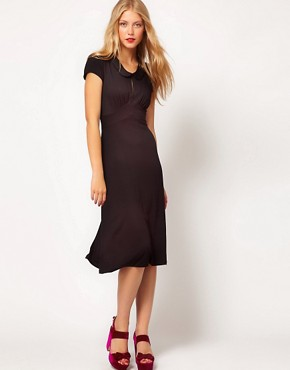 Image 4 ofASOS Midi Dress In Jersey With Peterpan Collar