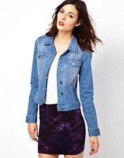 French Connection Animal Print Denim Jacket