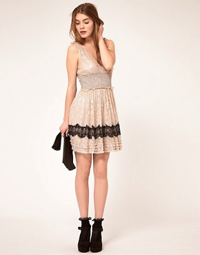 Image 4 ofFree People Lace Insert Babydoll Dress