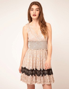 Image 1 ofFree People Lace Insert Babydoll Dress