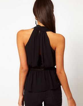 Image 2 ofASOS Halter Top With Layered Peplum