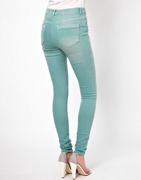 Image 2 ofASOS Ridley Supersoft High Waisted Ultra Skinny Jeans in Angel Green