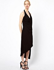 Kore by Sophia Kokosalaki Halterneck Dress With Asymmetric Hem