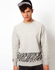 Beck & Hersey Sweat with Wildfire Print