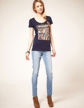 Image 4 ofWrangler Jess High Waisted Skinny Jeans