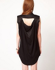POP Cph Silk Dress With Open Waterfall Back