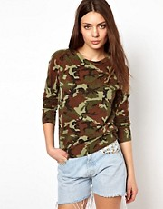 Equipment Sloane Crew Neck Cashmere Jumper in Camo