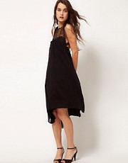 Kore by Sophia Kokosalaki Self Stripe Eye Motif Swing Dress