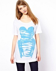 Markus Lupfer Bodice Flock Print T-Shirt
