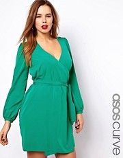 ASOS CURVE Exclusive Dress With Wrap