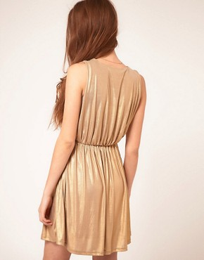 Image 2 ofRare Metallic Wrap Dress