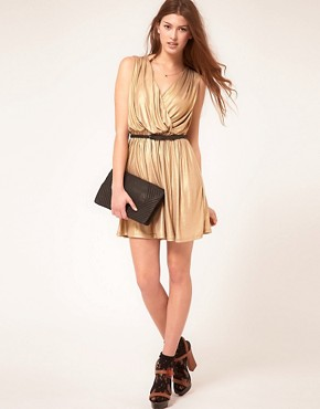 Image 4 ofRare Metallic Wrap Dress