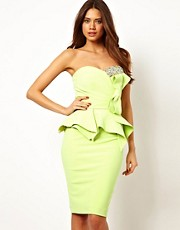 Forever Unique Structured Bandeau Dress