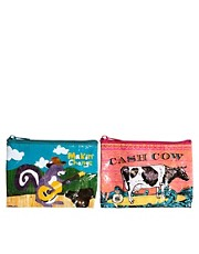 Blue Q Cash Cow Purse And Makin Change