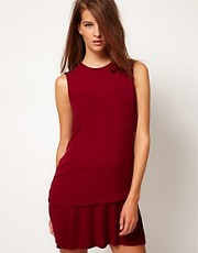 Camill &amp; Marc Dress With Pleat Skirt Detail