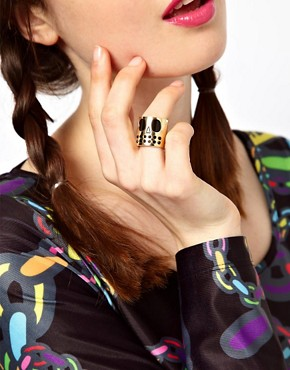 Image 3 ofLazy Oaf Skull Face Ring