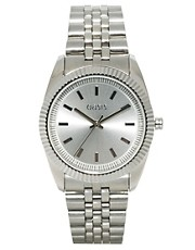 Oasis Ladies Silver Coloured Bracelet Watch with Silver Dial