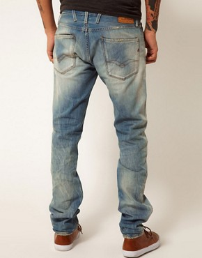 Image 2 ofReplay Jeans Anbass Regular Slim Fit Light Sunfaded Wash