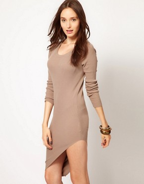 Image 1 ofJNBY Asymmetric Long Sleeve Dress