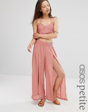 ASOS PETITE Split Beach Trouser Co-ord