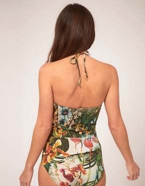 Image 2 ofTed Baker Jungle Print Suit With Pleated Detail