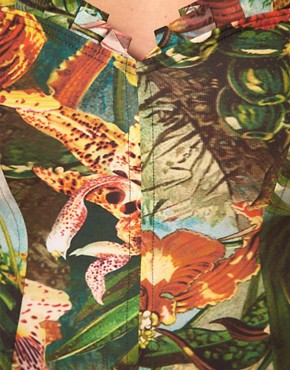 Image 3 ofTed Baker Jungle Print Suit With Pleated Detail