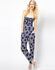Sonia by Sonia Rykiel Peg Trouser in Zig Zag Polka Dot Print