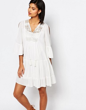 French Connection Castaway Lace Smock Dress