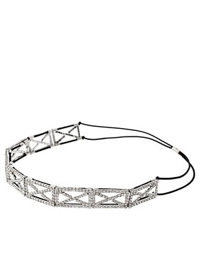 Image 2 ofASOS Diamante Criss Cross Pattern Stretch Headband